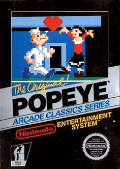 Popeye for the NES - Popeye was featured on numerous home gaming and computer systems, but the NES version really stands out with vivid imagery and great sound - including Popeye's theme song when he eats spinach! Even though the characters are a bit blocky, each one bears recognizable features.