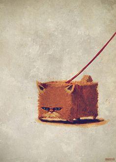 modern cat by Mateusz Mazurek, via Behance