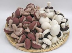 i just love how big of a pile of stitched mushrooms this is!