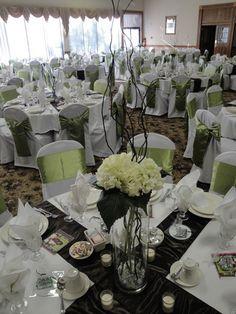 Apple Green and Ivory Wedding Decor