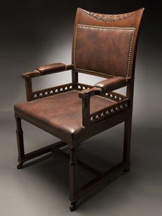 An early armchair, circa 1880, was one of Tiffany's first commissions.