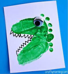 Alligator & Dinosaur Footprint Crafts for Kids - Crafty Morning