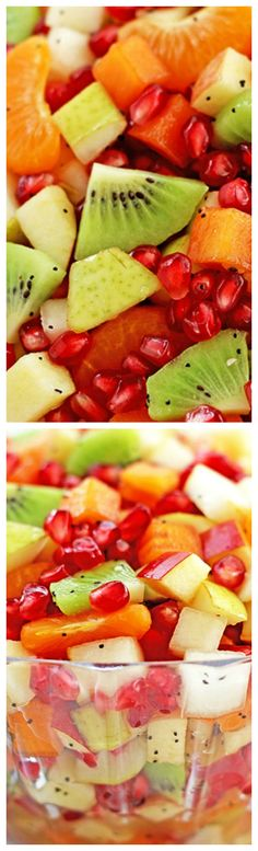 Healthy Winter Fruit Salad ~ Easy, scrumptious, fresh and beautiful winter salad