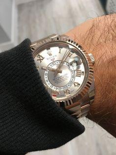 Rolex Sky Dweller Rose Gold Sundust Dial 326935