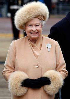 Queen Elizabeth II looking so elegant.