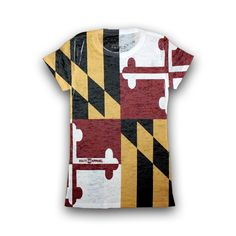 Maryland Flag Fitted Burnout *Vintage* / Shirt... to go with my yoga pants