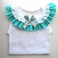 Turquoise Baby Girl Singlet - birthday, blue, tank, toddler, summer | Bubby Makes Three | madeit.com.au