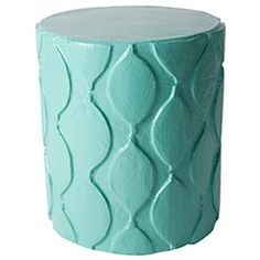 Stray Dog Designs Aunt Susan Stool/Accent Table Diameter x comes in colors and white Hand Painted Furniture, Handmade Furniture, Furniture Styles, Modern Furniture, Moroccan Furniture, Modern End Tables, Moroccan Pattern, Online Home Decor Stores, Accent Decor