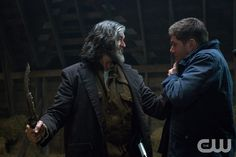 "Supernatural -- ""The Executioner's Song"" -- Image SN1014A_0345 -- Pictured (L-R): Timothy Omundson as Cain and Jared Padalecki as Sam -- Credit: Liane Hentscher/The CW --  © 2015 The CW Network, LLC. All Rights Reservedpn"