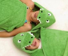 """Hooded Towel - Alligator by Yikes Twins. $39.00. Primary Color: Green. Theme: gators & crocs. Usually ships in 5-7 business days54"""" x 30""""Fresh from the bath or swimming, wrap your little one in the Alligator Hooded Towel for kids, perfect for your reptile lover! We recommend personalization in white for this special bath towel. With these fun animal hooded towels, bath time will be a cinch! No longer will your little one fight scrub a dub dub time; it will be embraced!..."""