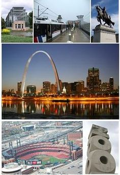 Top left:Forest Park Jewel Box, MetroLink(St. Louis)at Lambert-St. Louis International Airport, Apotheosis of St.Louis at the St Louis Art Museum,Gateway Arch,the St. Louis skyline,Busch Stadium, and the St.Louis Zoo.It is the second-largest city in the state.St.Louis was founded in 1764 by Pierre Laclède and Auguste Chouteau,it became a major port on the Mississippi River.Its population expanded after the American Civil War,it became the fourth-largest city in the United States in 19th cent...