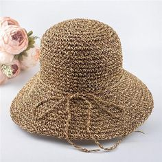 f0eb0c60e Summer bowknot large soft-brimmed straw hat panama beach hats for women  vogue #BeachHatsForWomen