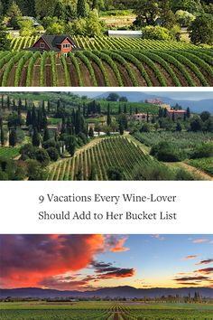 9 Vacations Every Wine Lover Should Add to Her Bucket List