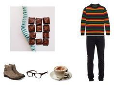 """""""""""I don't think my parents liked me. They put a live teddy bear in my crib."""""""" by franzii-van-rieen ❤ liked on Polyvore featuring Officine Creative, Lanvin, The Elder Statesman, Warby Parker, Parra, men's fashion and menswear"""