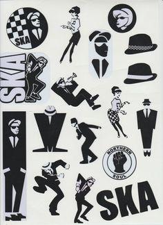 Ska 2 Tone Vinyl Stickers Decals 17 Various Designs & Sizes Sheet Specials Ska Music, Reggae Music, Genre Musical, The Distillers, Df Mexico, Ska Punk, One Step Beyond, Laurel, Rude Boy