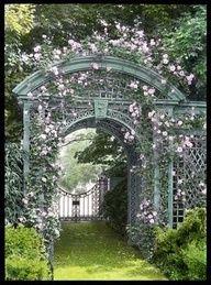 Garden Archway, Garden Arbor, Garden Gates, Garden Landscaping, Herb Garden, Garden Entrance, Garden Benches, Entrance Gates, Fruit Garden