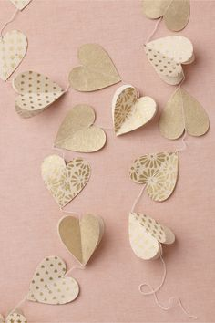 Heart of Gold Garland (3) in SHOP Décor Decorations at BHLDN
