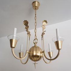 Swedish Art Deco Chandelier by Elis Bergh for C. G. Hallberg | From a unique collection of antique and modern chandeliers and pendants  at https://www.1stdibs.com/furniture/lighting/chandeliers-pendant-lights/