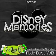 Kellybell Designs Disney Memories Freebie #Digitalscrapbooking