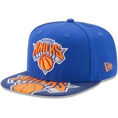 low priced c6e1e c4132 New York Knicks New Era Logo Extra 9FIFTY Snapback Adjustable Hat - Blue