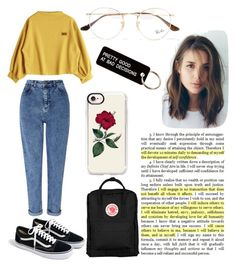 """Untitled #38"" by frid1445 on Polyvore featuring Miss Selfridge, J.Crew, Ray-Ban, Casetify, Fjällräven and Various Projects"