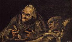 Francisco Goya - Due Vecchi che Mangiano (1820)