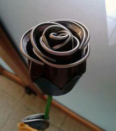 Flor com capsula de nespresso