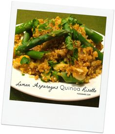 Lemon Asparagus Quinoa Risotto on http://foodbabe.com