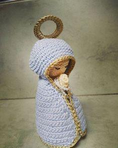 Patrón paso a paso de la virgencita (crochet)