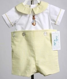 Bunny Romper for Baby Boy Easter Outfit, Peter Rabbit Outfit for Boy, Boys Easter Outfit, Boy Easter Outfit 293402