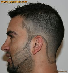 zigzag_into_border_fade_tramlines_leftjpg hair and beard tattoo shaved design beard design ideas - Beard Design Ideas