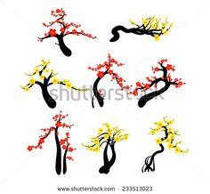 Chinese New Year cherry blossoms background