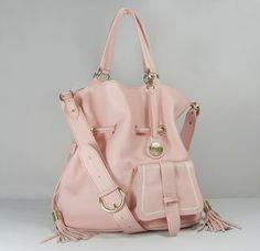 LANCEL - powder pink handbag - so pretty !