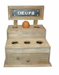 Rustic French Style Wood Egg Storage Box: Amazon.co.uk: Kitchen & Home