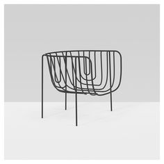 Nendo - 13600mm chair from the Thin Black Lines series