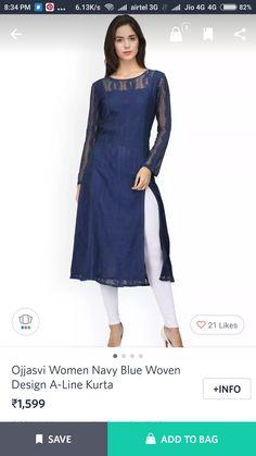 Kurtis, Dresses For Work, Fashion, Moda, Fashion Styles, Fasion