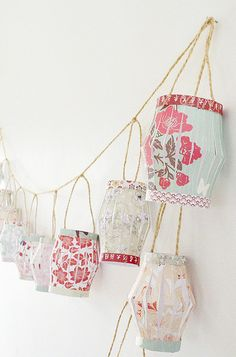 8 Fave DIY Projects for July.  I love the lanterns!