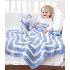 Mary Maxim - Free Star Baby Blanket Crochet Pattern (uses Bulky Yarn)