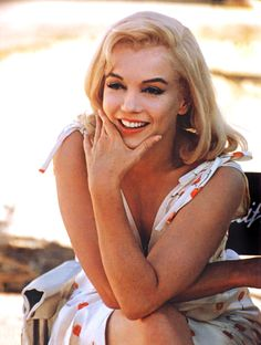 Marilyn Monroe on the set of 'The Misfits', 1961