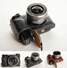 Gonna get the brown one!! Sony A6000 Case Sony A6000 leather cameras case by CamerasBagShop