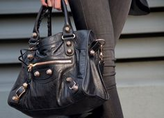 This is my all-time fantasy bag.  Balenciaga in black. I WANT YOU! I could die a happy woman....I will own one...oh yes...I will own one