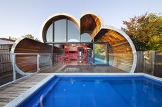 The Cloud House  Fitzroy North VIC, Australia  McBride Charles Ryan's work for the house is designed in three parts. This allows for a sequence of distinct and unexpected episodes, with glimpses previewing oncoming spaces and experiences as you move through the home.