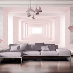 murando - Wallpaper cm - Non-woven premium wallpaper - Wall mural - Wall decoration - Art print - Poster picture photo - HD print - Modern decorative - tunnel Living Room Grey, Home And Living, Wallpaper Wall, Pinterest Home, Home Decor Accessories, Bedroom Wall, Room Inspiration, Wall Murals, Sweet Home