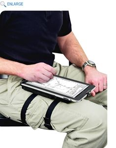 The RAM leg mount with non-locking cradle for the Apple iPad includes two straps for tight support. Easily turn to view your iPad in either portrait or landscape mode. Providing ample support while keeping a low profile, the leg mount will not add bulk to the sleek form of your iPad.