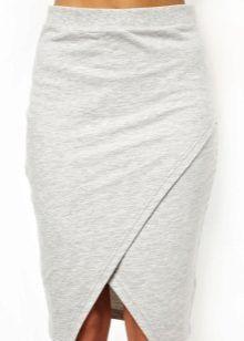 Картинки по запросу юбка с запахом из трикотажа
