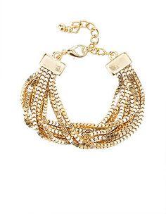 Box Chain Cuff Bracelet: Charlotte Russe