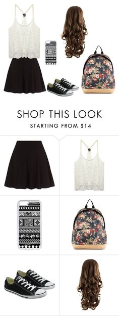 """""""Back to school"""" by fashiongirlprox ❤ liked on Polyvore featuring Wet Seal, CellPowerCases, NLY Accessories and Converse"""
