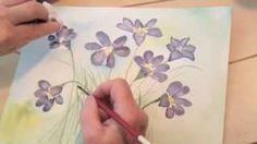 Watercolor Painting May Flowers Lesson 5, via YouTube.