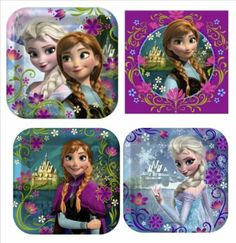 Amazon.com : Disney's Frozen Birthday Party Supplies Value Pack: Dinner Plates, Dessert Plates & Napkins for 8 Guests : Toys & Games