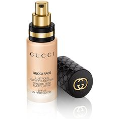 Gucci Light 020, Lustrous Glow Foundation (380 DKK) ❤ liked on Polyvore featuring beauty products, makeup, face makeup, foundation, beauty, cosmetics, faces, gucci beauty, sensitive skin foundation and gucci